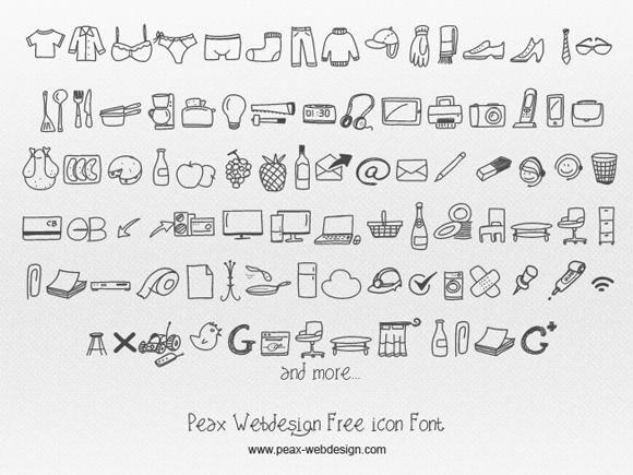 2Gorgeous Free Icon Fonts