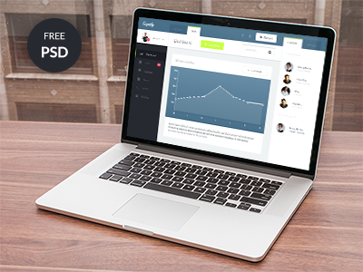 3Cupify Dashboard Design Free PSD