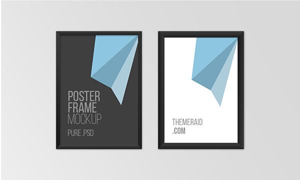 3Free Psd Poster Frame Mockup