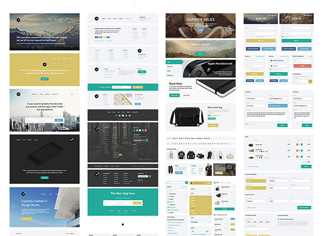 4Edge Web UI Kit Free PSD