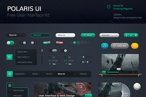 6Polaris UI Kit Free PSD