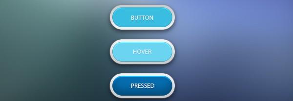 8Clean Blue Button Free PSD