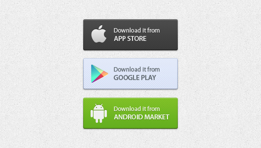 9App Download Buttons Free PSD