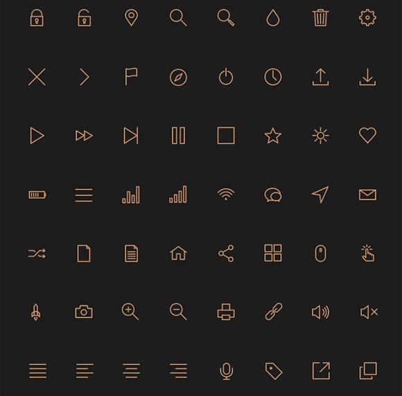 9Gorgeous Free Icon Fonts