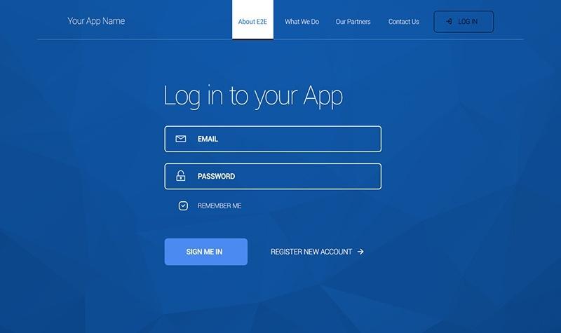 9Login Screen Form Free PSD