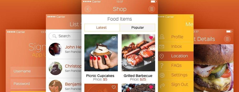 9Wow App UI Kit Free PSD