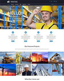 LT Industrial Onepage – Free Responsive Engineering / Industrial Onepage WordPress theme