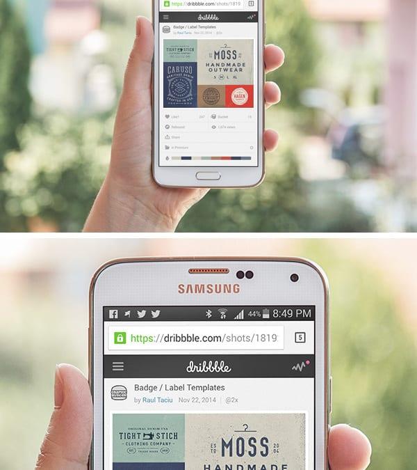 Samsung Galaxy S5 PSD MockUp #2