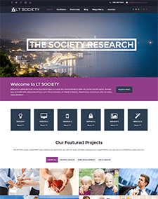 LT Society Onepage – Free Responsive Corporation / Society Onepage WordPress theme