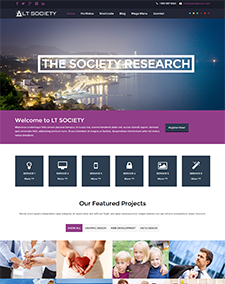 LT Society – Free Responsive Corporation / Society WordPress theme