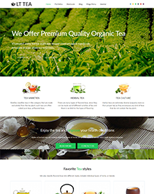 LT Tea – Free Responsive Tea Store / Tea Business WordPress theme