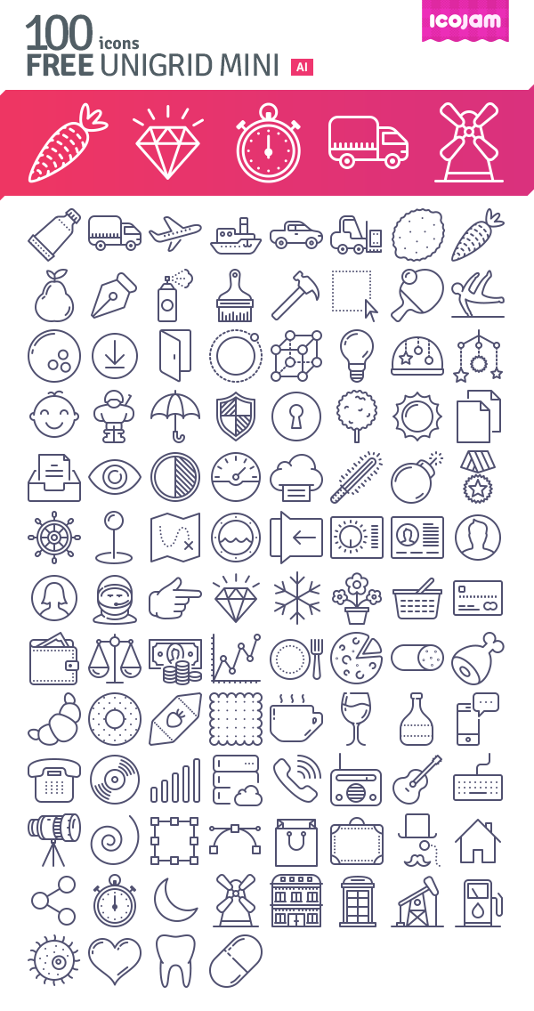 100 Free Vector Icons Download