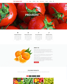 LT Agriculture Onepage – Free Responsive Farmer / Fruits Onepage WordPress theme