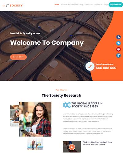 LT Society – Free Joomla Community template