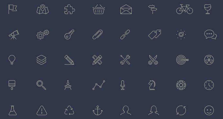 10Elegant Themes Line-Style Icons