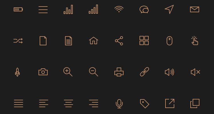 18Stroke Icons