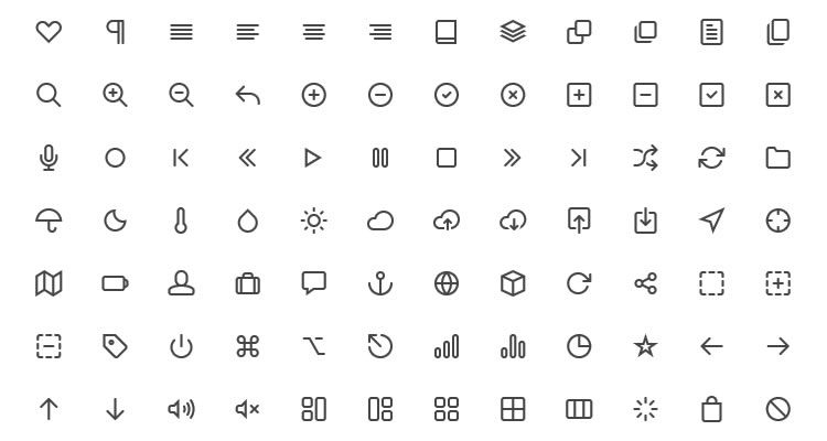 21Feather Icon Set