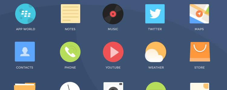 25Blackberry Icons