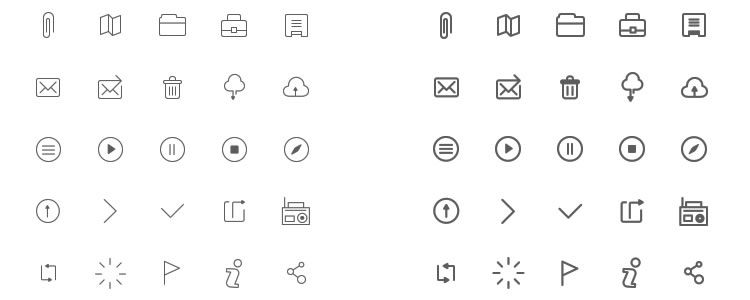 33Wireframe Icons