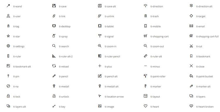 3Themify Icons