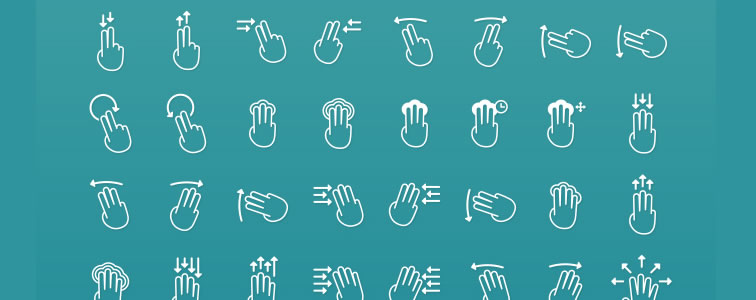 43Touch Gestures Icons