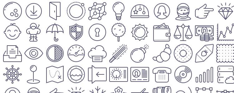46UNigrid Vector Icons