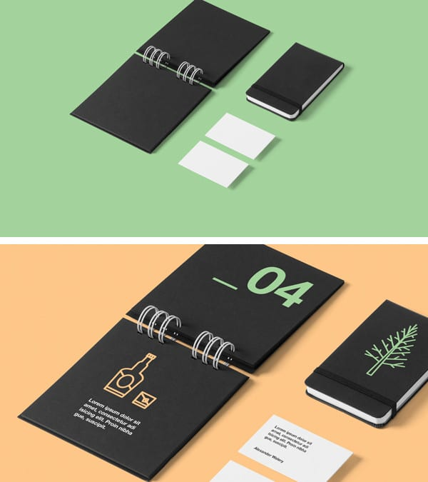 Free Stationery MockUp PSD Download