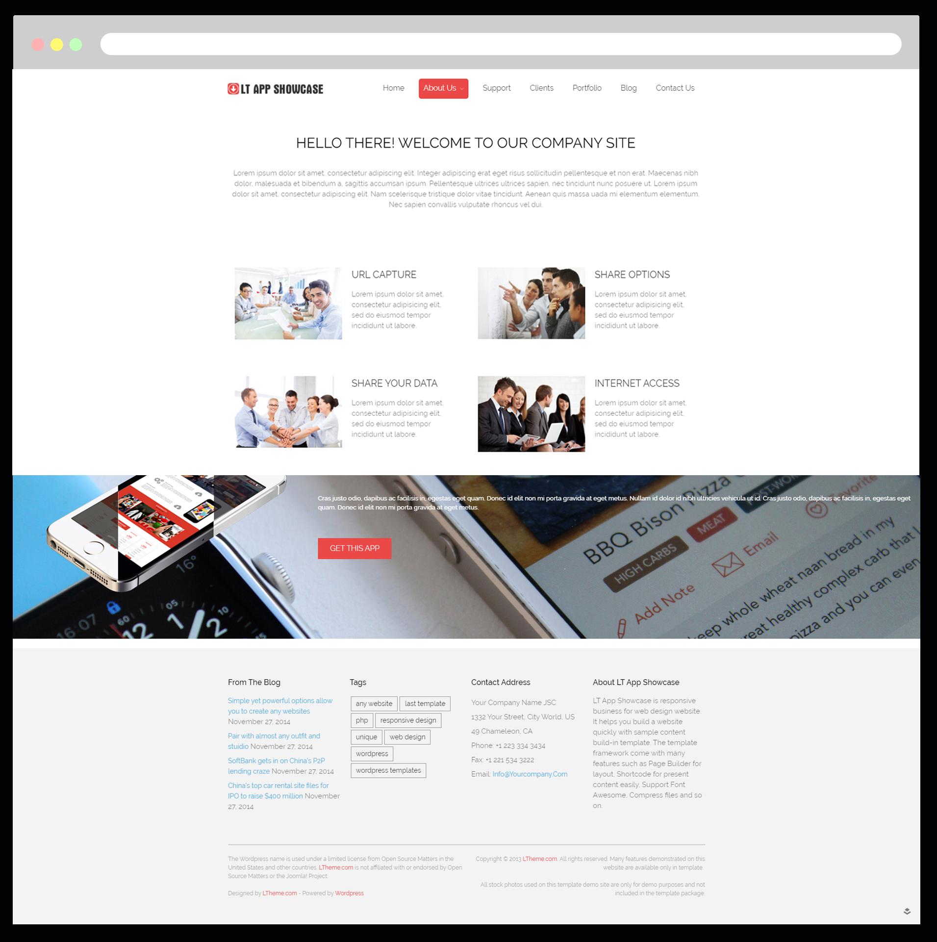 Lt App Showcase Free Responsive Application Showcase Wordpress