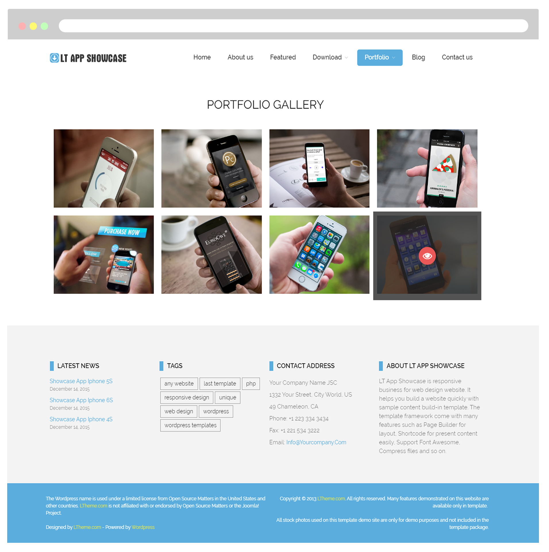 LT App Showcase - Free Responsive Application Showcase WordPress ...