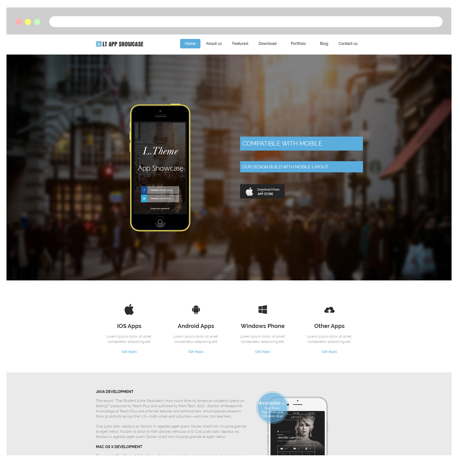 Lt App Showcase Free Responsive Application Showcase Wordpress
