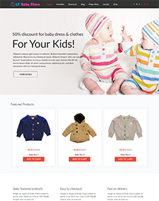LT Baby Shop – Free Responsive Kids / Baby Store WordPress theme