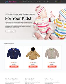 LT Baby Shop – Free Baby Store / Baby Shop Joomla template
