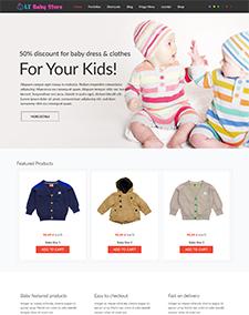 LT Baby Shop – Free Kids Clothes Store Hikashop Joomla template