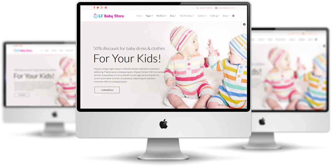 LT Baby Shop Joomla! template