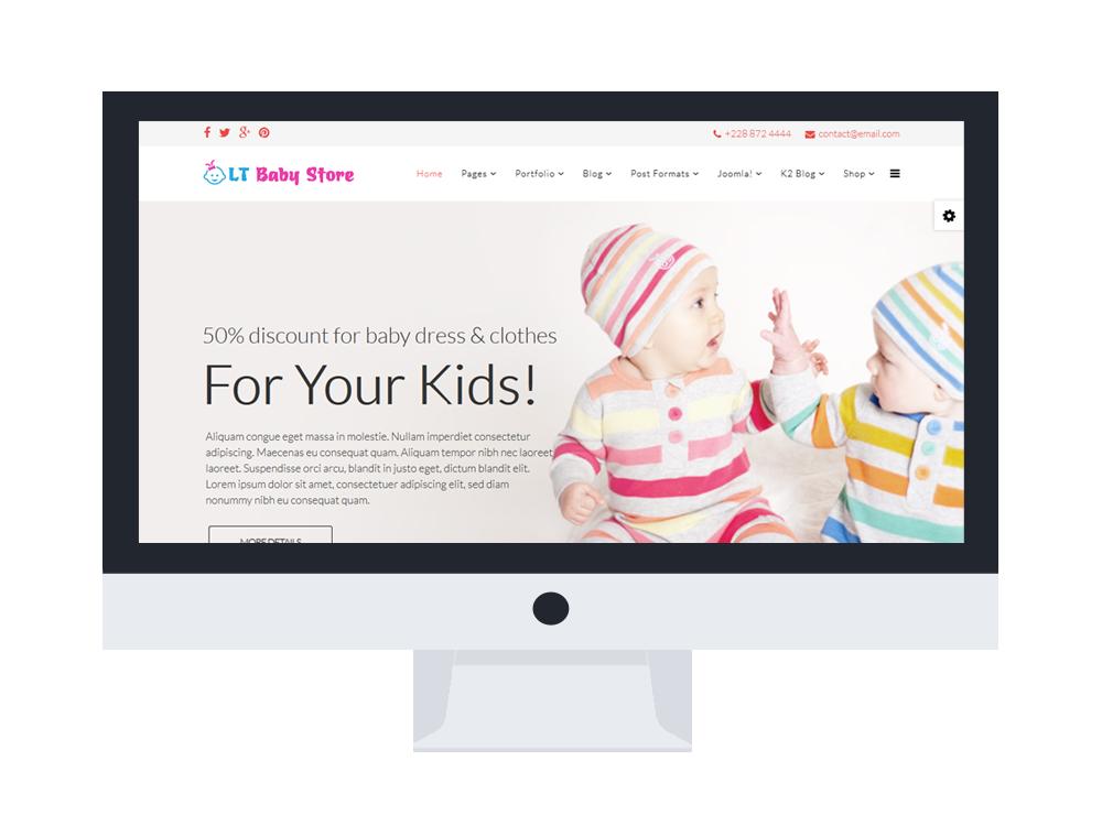 Free Joomla hikashop baby ecommerce templates