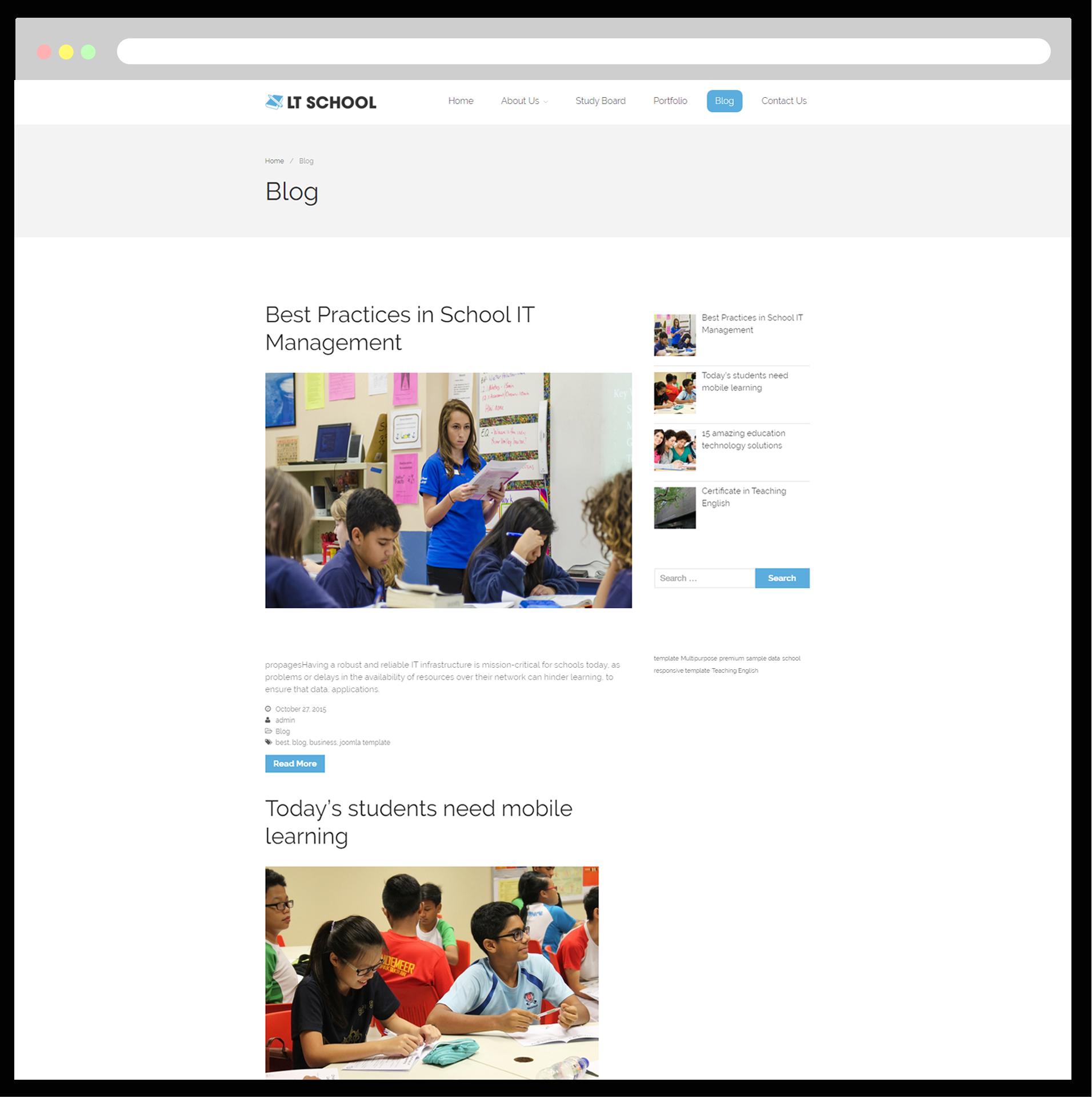 Lt School Free Responsive School Wordpress Theme