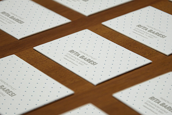 Photorealistic Letterpress Business Cards MockUp