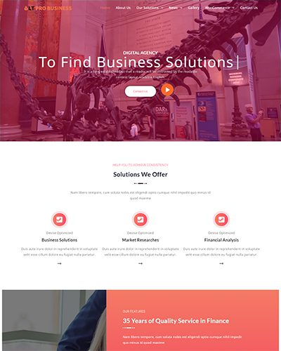 LT Pro Business – Free responsive business wordpress themes