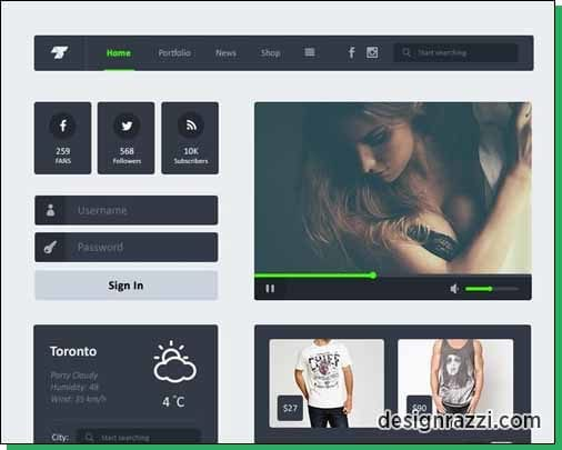10+ Best Free Flat UI Kits