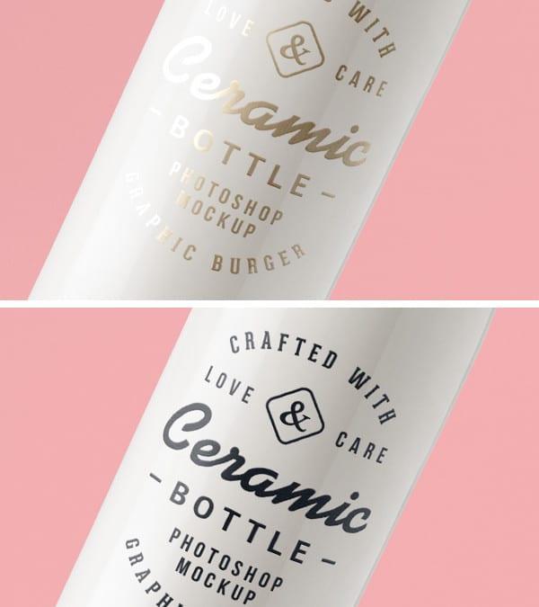 Ceramic Bottles Versatile Free PSD MockUp Template