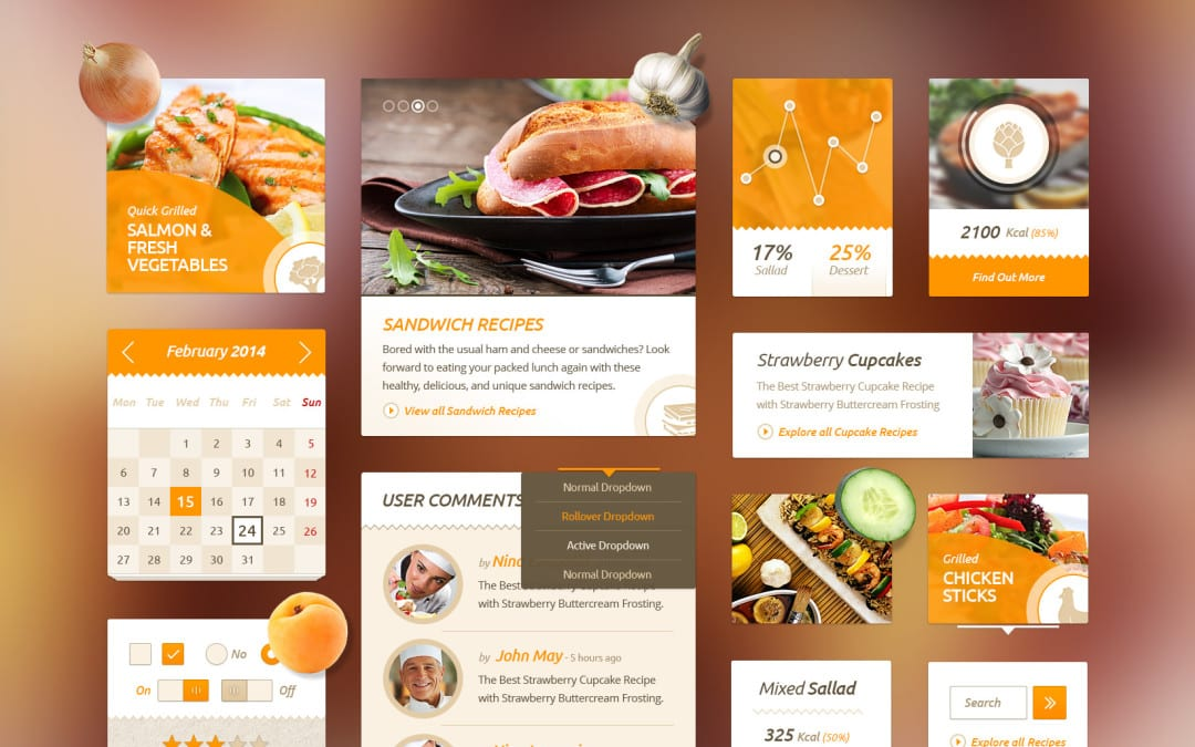 Delicious recipes food free ui kit delicious recipes food free ui kit download forumfinder Gallery