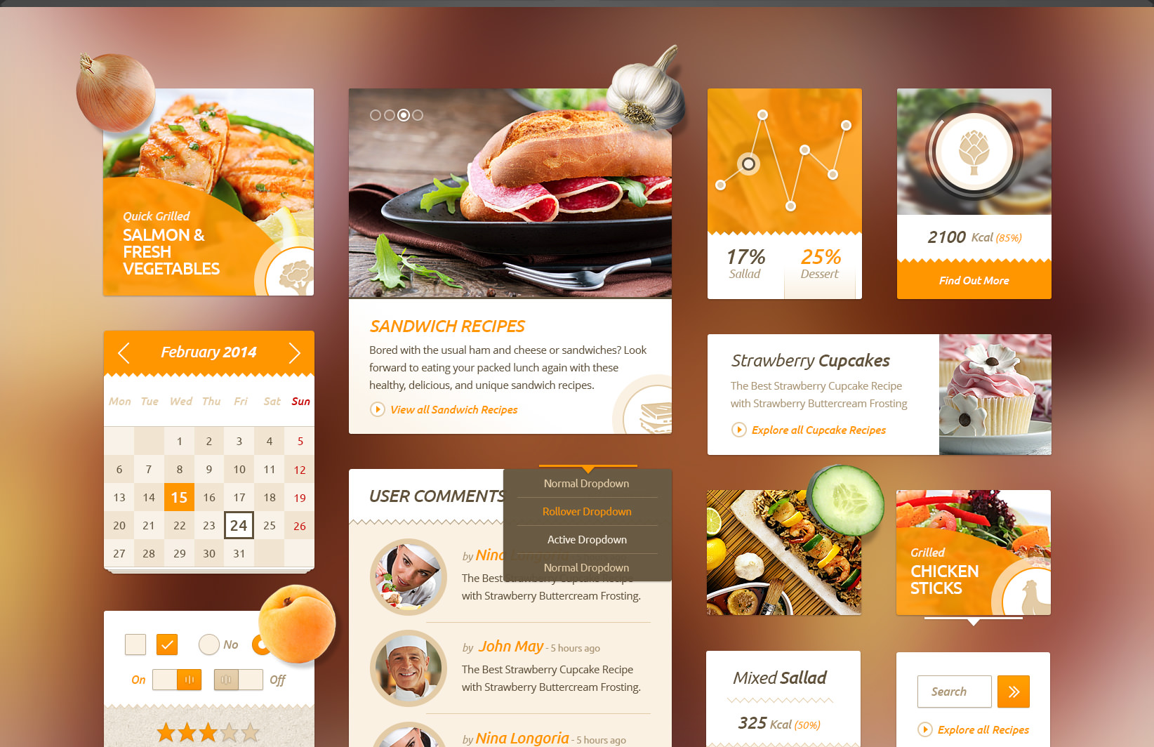 Delicious recipes food free ui kit food free ui kit forumfinder Image collections