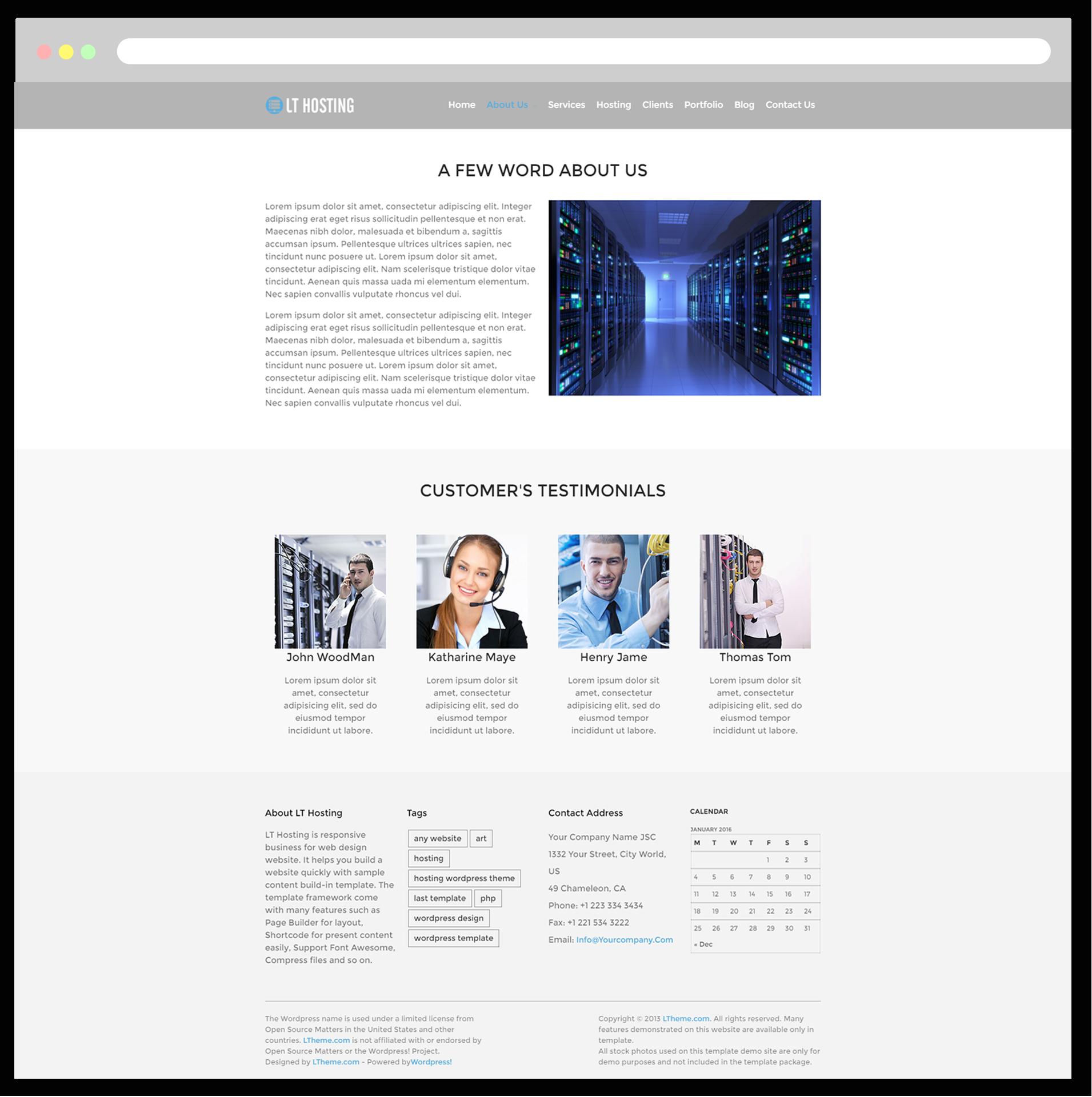 Lt Hosting Free Responsive Domain Hosting Wordpress Theme