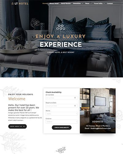 LT Hotel – Free responsive wordpress travel theme