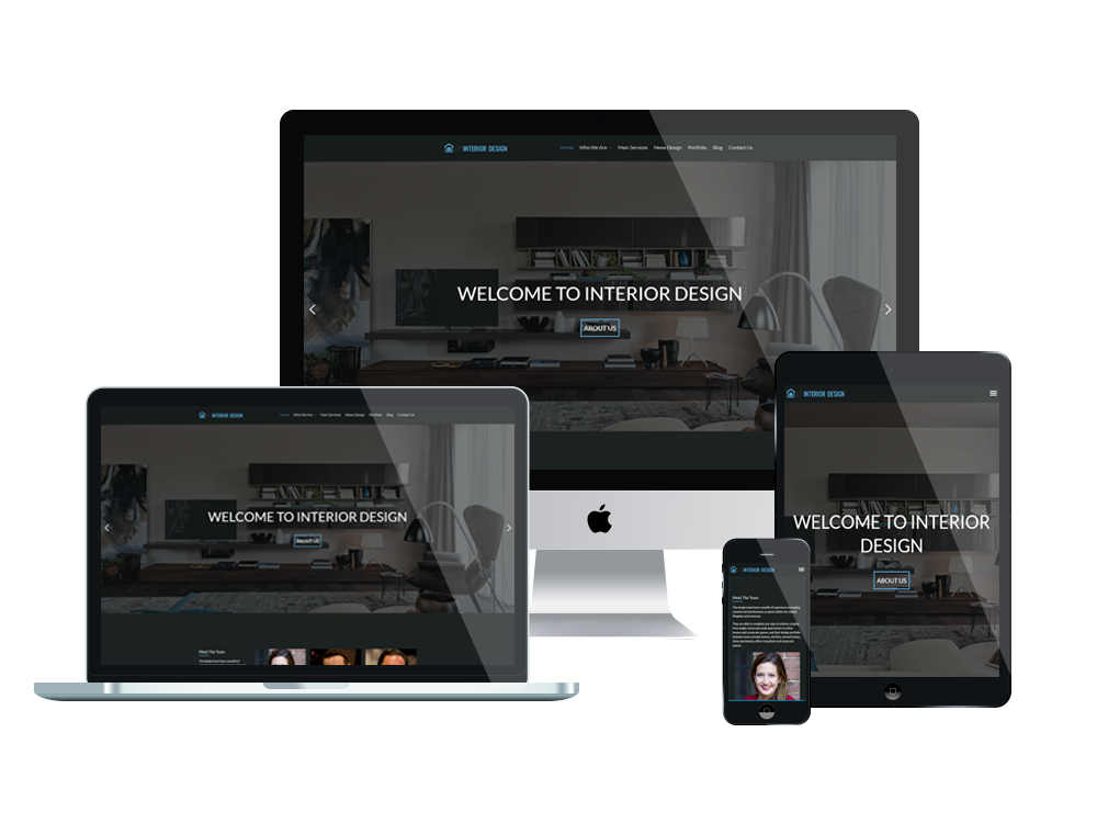 Free responsive interior design wordpress theme for Wordpress design