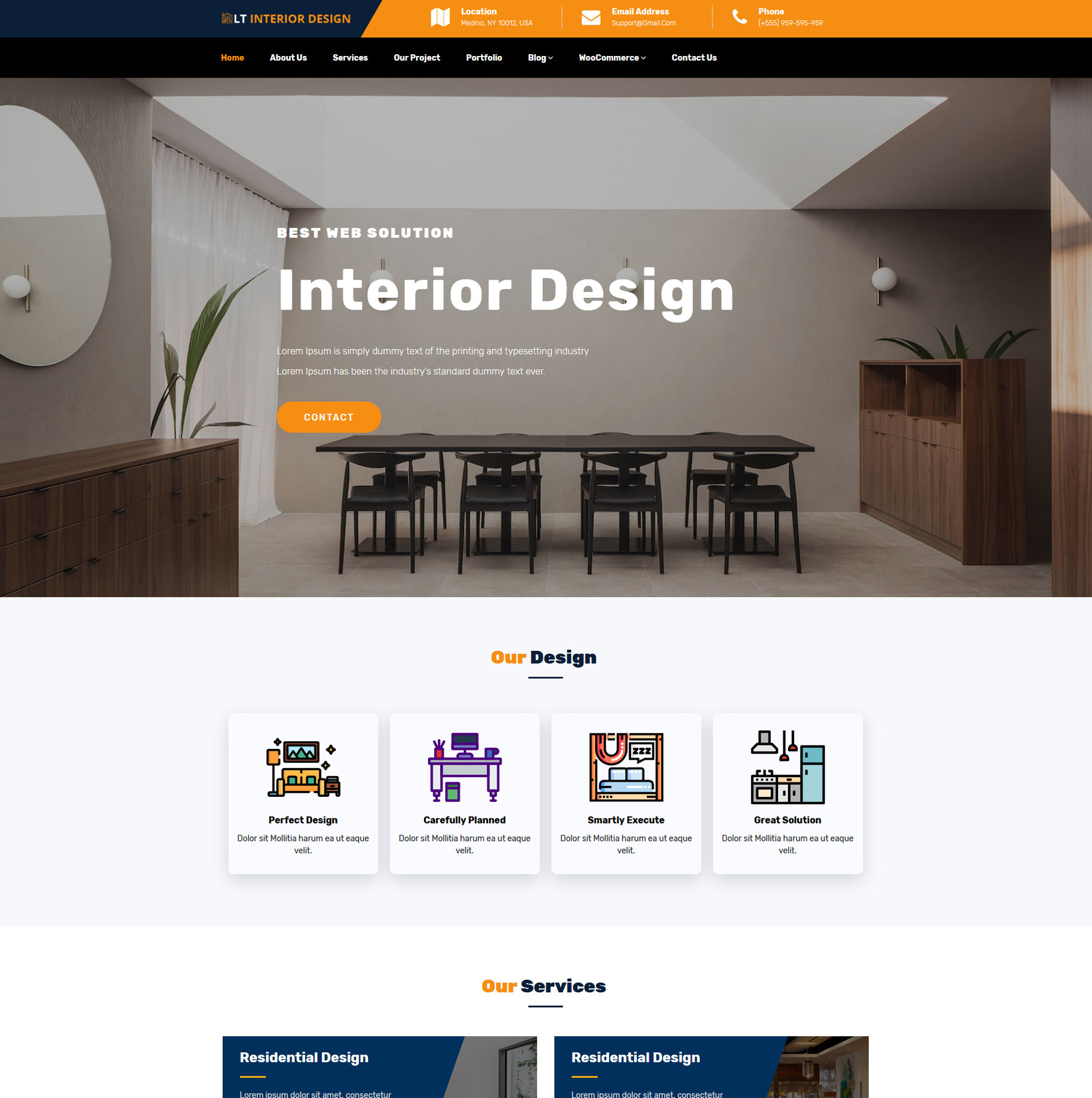 Furniture Web Sites: Free Responsive Wordpress Interior