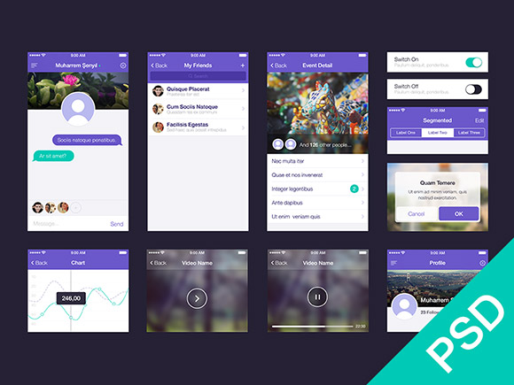 free app design template