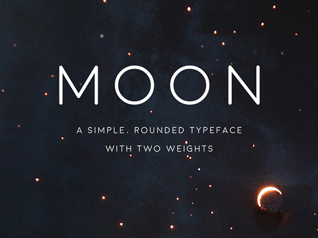 10Moon free font