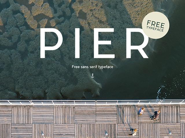 12Pier free font