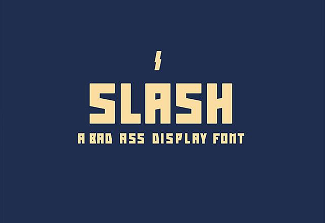 13Slash free font